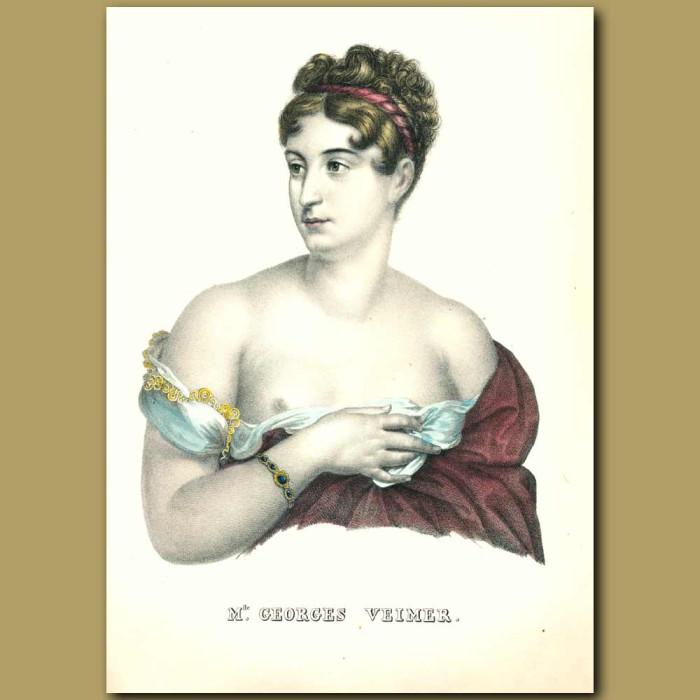 Antique print. Mlle. Georges Veimer
