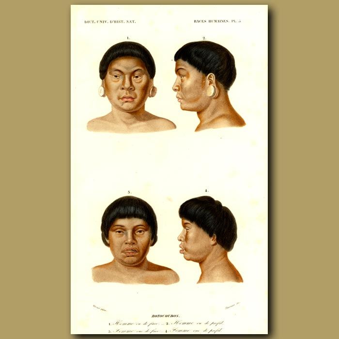 Antique print. People From South America
