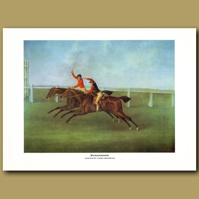 Antique print. Dungannon beating Rockingham