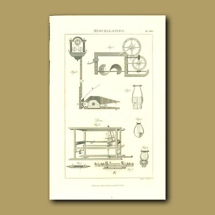 Antique print. Loom