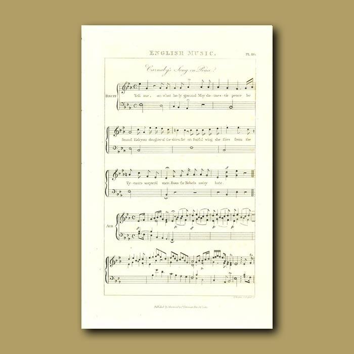 Antique print. English Music