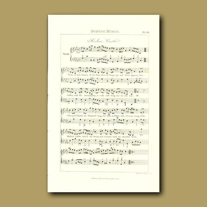Antique print. Scotch Music