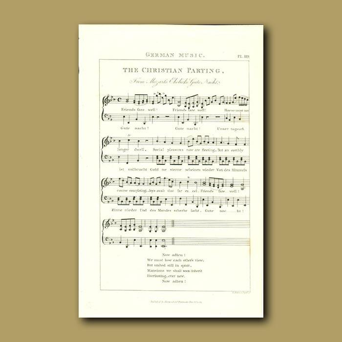 Antique print. German Music