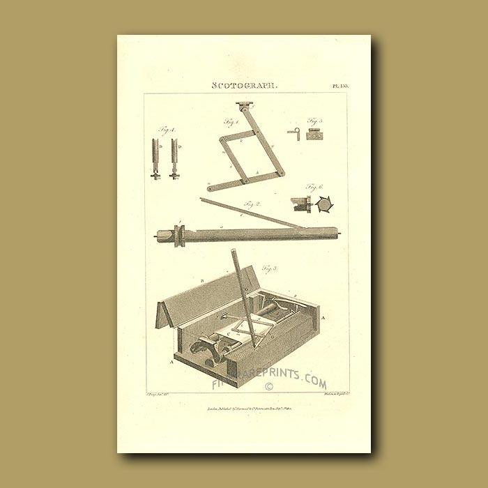 Antique print. Scotograph