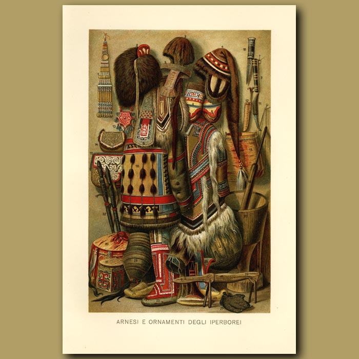 Antique print. Siberian Ornaments