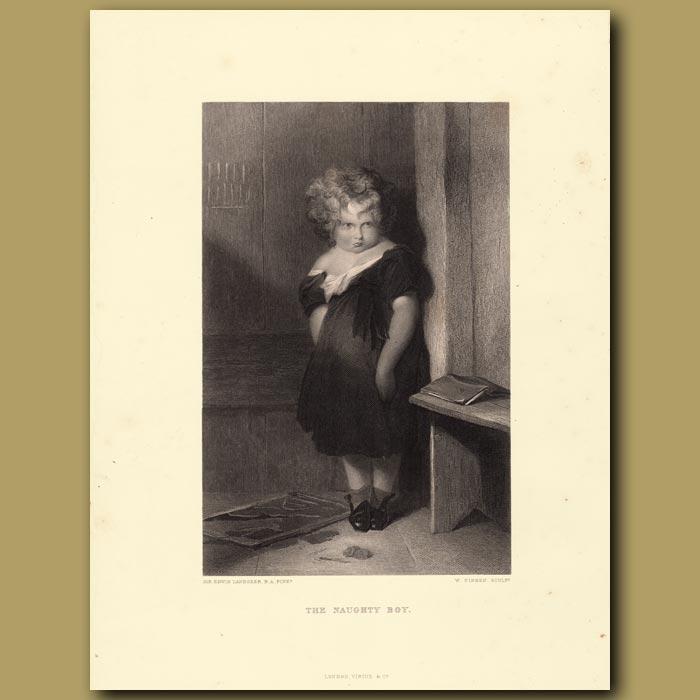 Antique print. The Naughty Boy