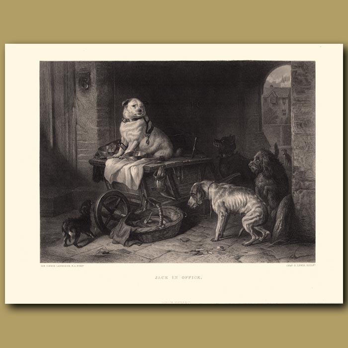 Antique print. Jack in Office: Mastiff
