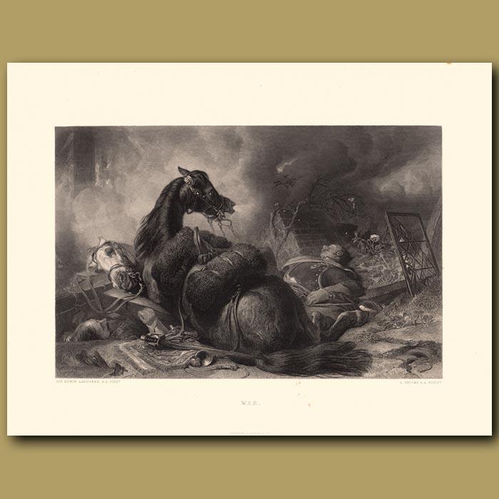 Antique print. War