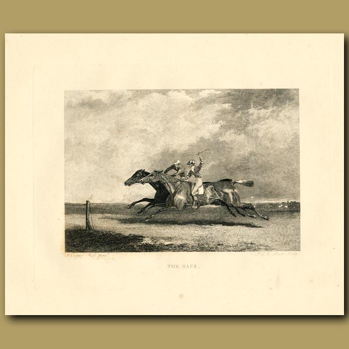 Antique print. The Race