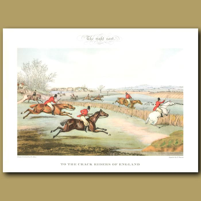 Antique print. The Right Sort. To the Crack Riders of England
