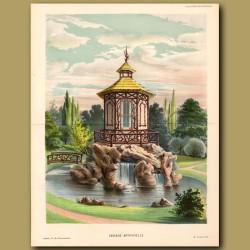 Garden Fountain. Cascade Artificielle