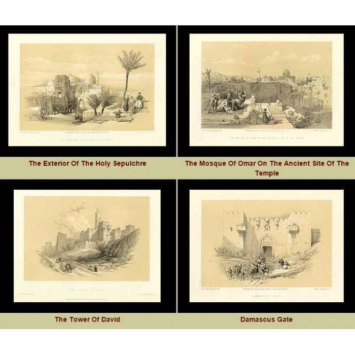 Antique print. High Res Images: 42 Holy Land Artworks By David Roberts