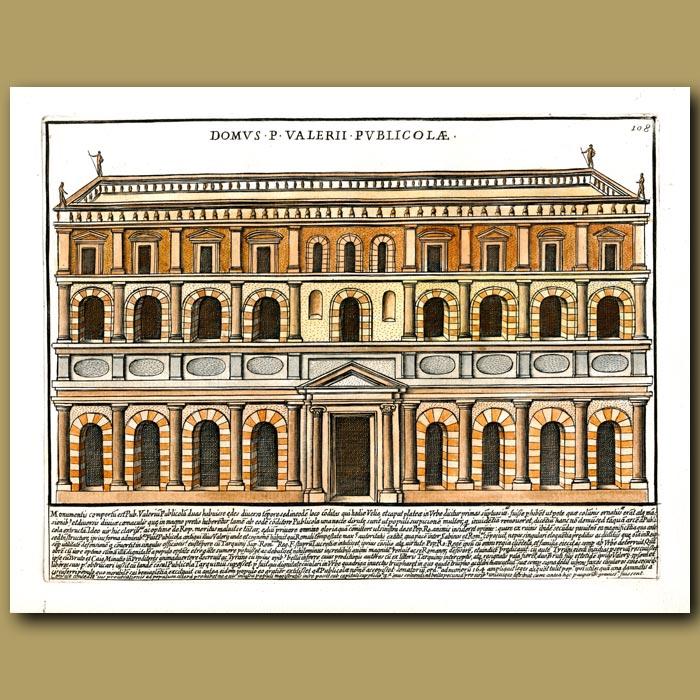 Antique print. House of Valerius Publicolae