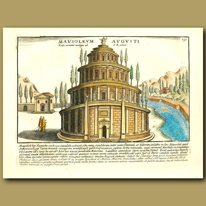 Antique print. Augustus's Mausoleum