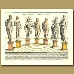 Statues of Roman Gods - Nero, Apollo and Saturn