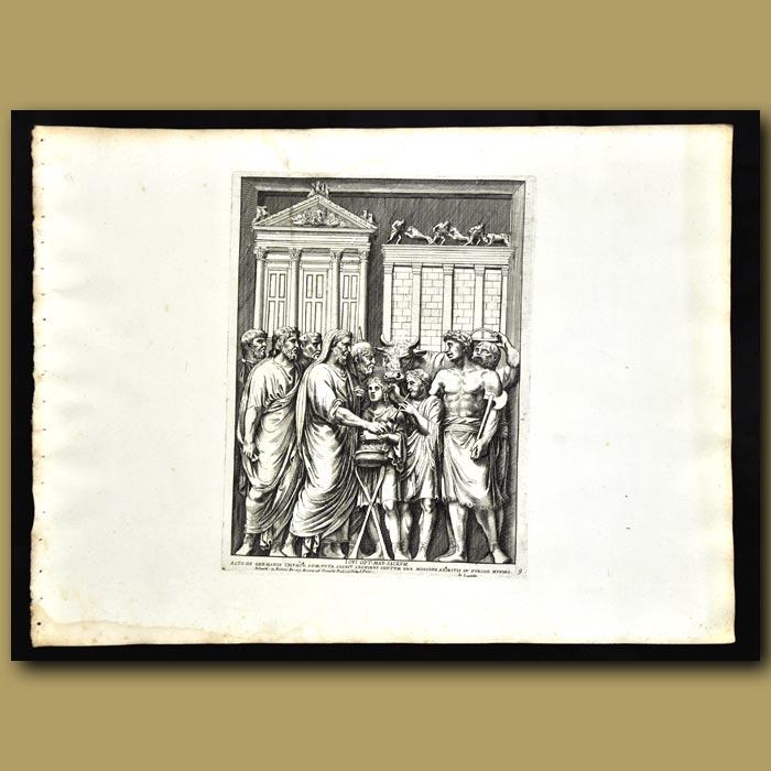 Antique print. Vows In Honour Of German Triumph