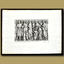 Decoration From The Garden Of The Medici - Citizens And Children Giving Thanks To The Gods
