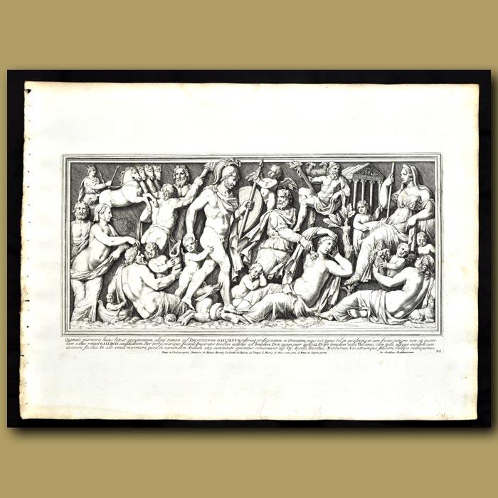 Antique print. The Emperor Gallienus On A Journey