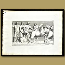 Frieze Of A Chariot In Temple Baerberinus