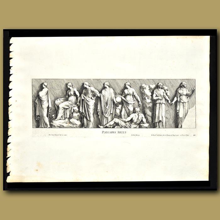 Antique print. Roman Women