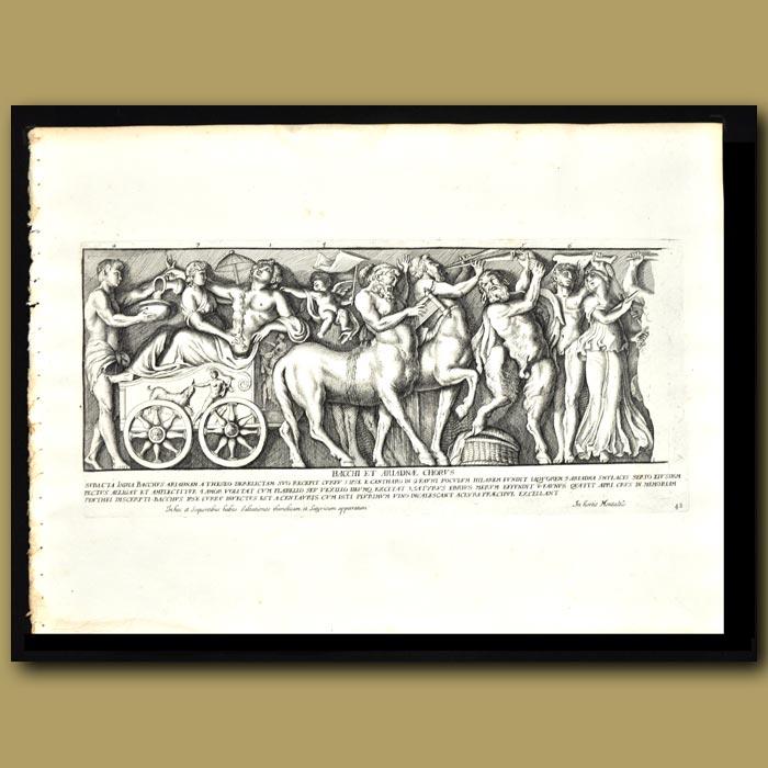 Antique print. Celebration Of Bacchus And Ariadne (I)