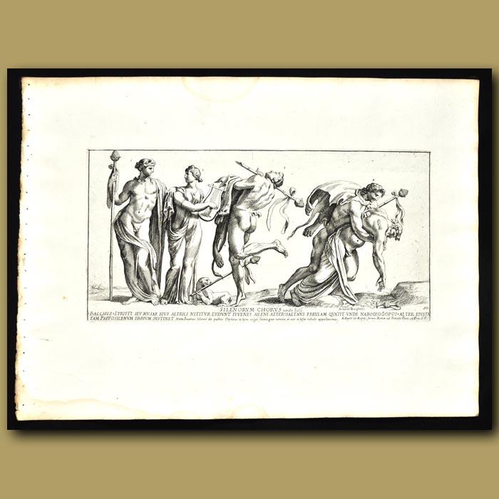 Antique print. Silenorum Chorus: Song Of Silenus, Oldest Of The Satyrs