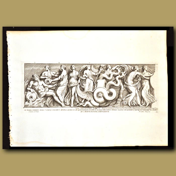 Antique print. Persephone, Queen Of The Underworld And Daughter Of Zeus