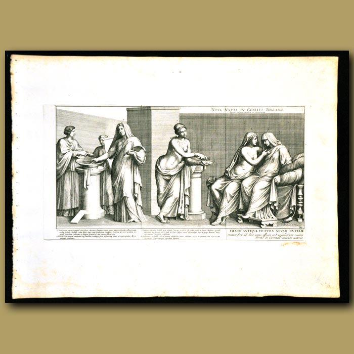 Antique print. New Bride In The Marriage Chamber