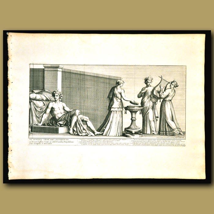 Antique print. Roman Wedding Ceremony.