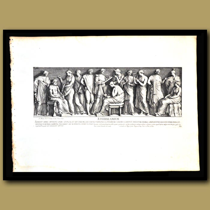 Antique print. Roman Wedding Song