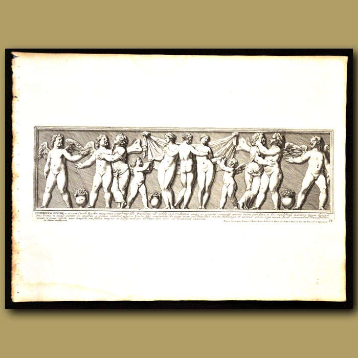 Antique print. Cupids And The Immortality Of The Soul