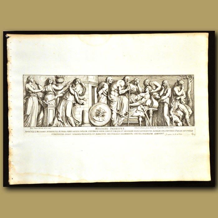 Antique print. Roman Healers