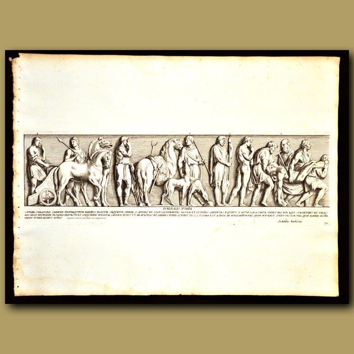 Antique print. Roman Procession