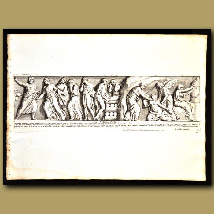 Antique print. Roman Pyre