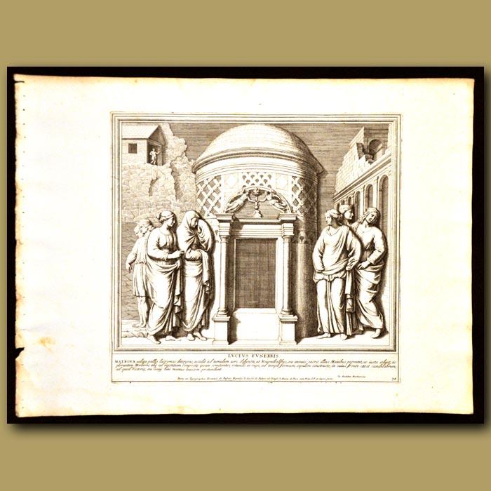 Antique print. Roman Buildings