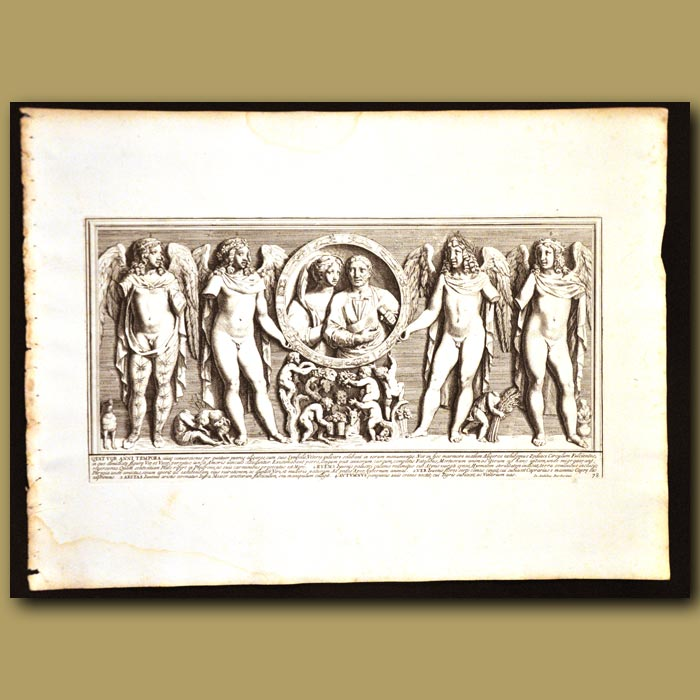 Antique print. Four Seasons Of The Year