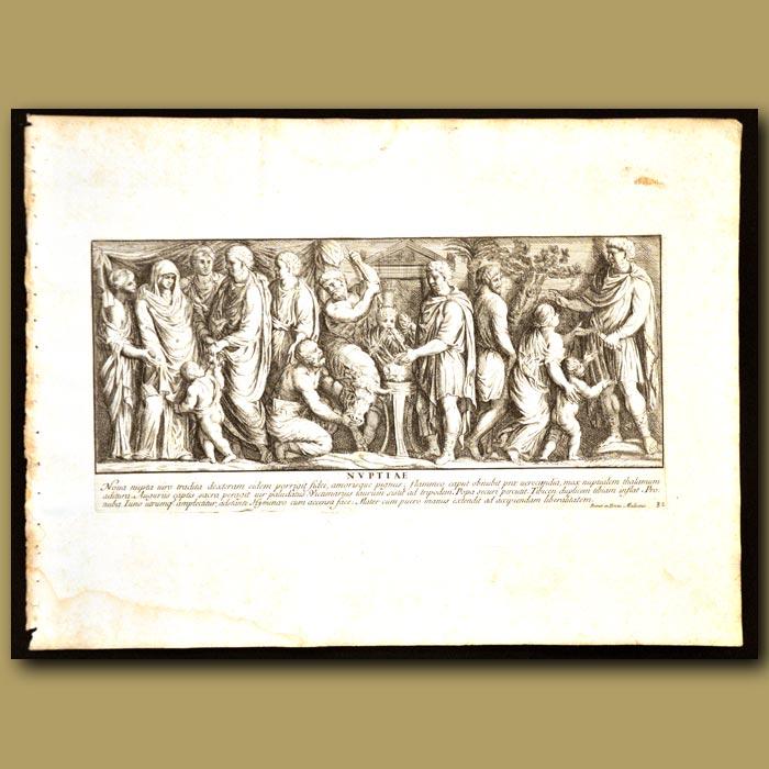 Antique print. Roman Wedding