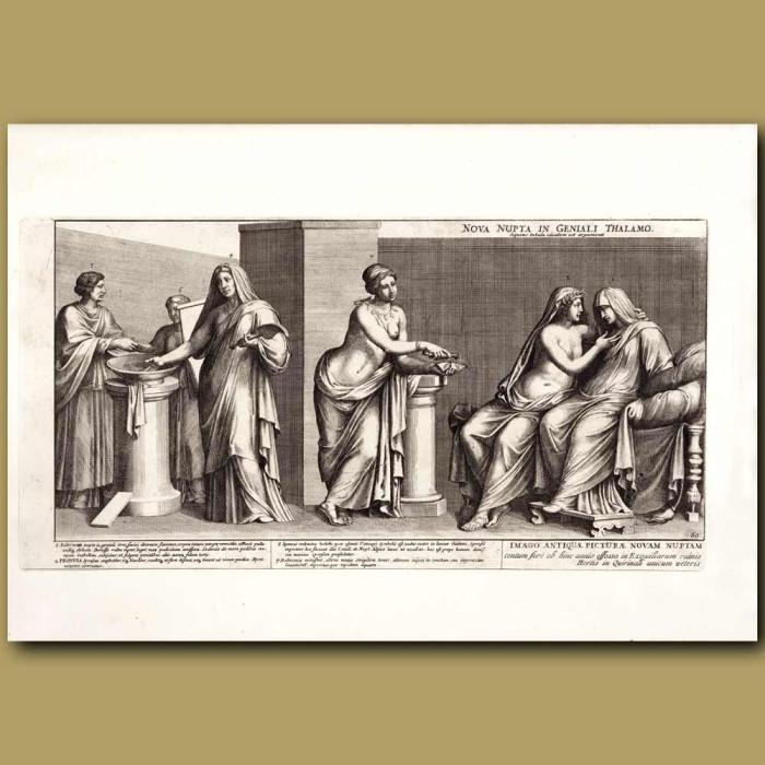 Antique print. Roman Bride and Bridegroom