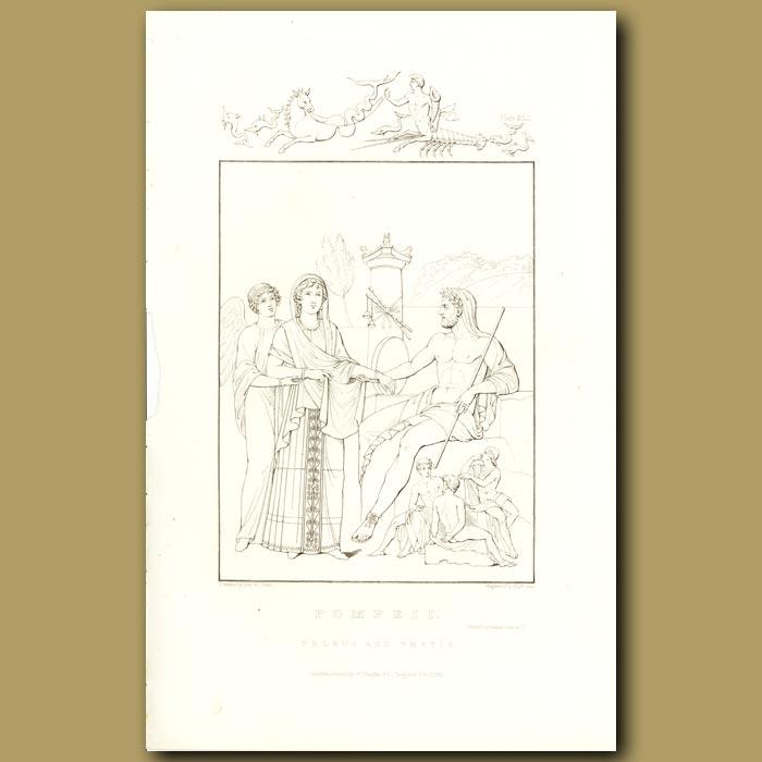 Antique print. Pompeii: Peleus and Thetis