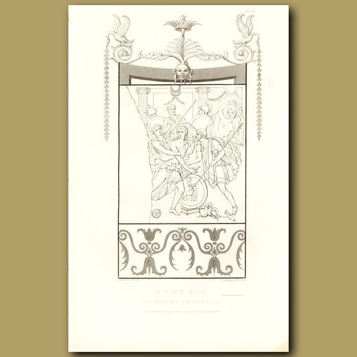 Antique print. Pompeii: Achilles in Scyros
