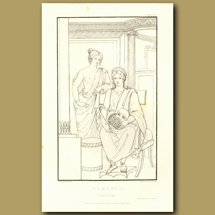 Antique print. Pompeii: Thalia
