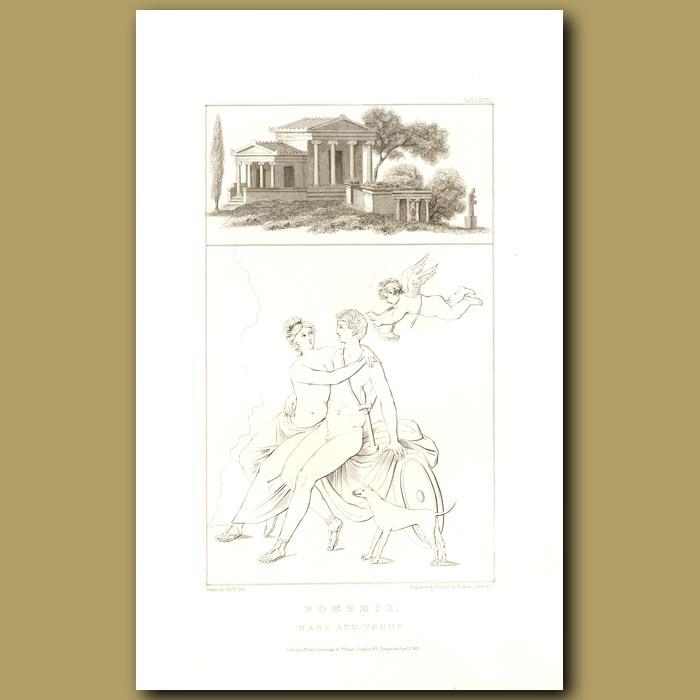 Antique print. Pompeii: Mars and Venus