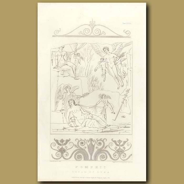 Antique print. Pompeii: Dream of Rhaea