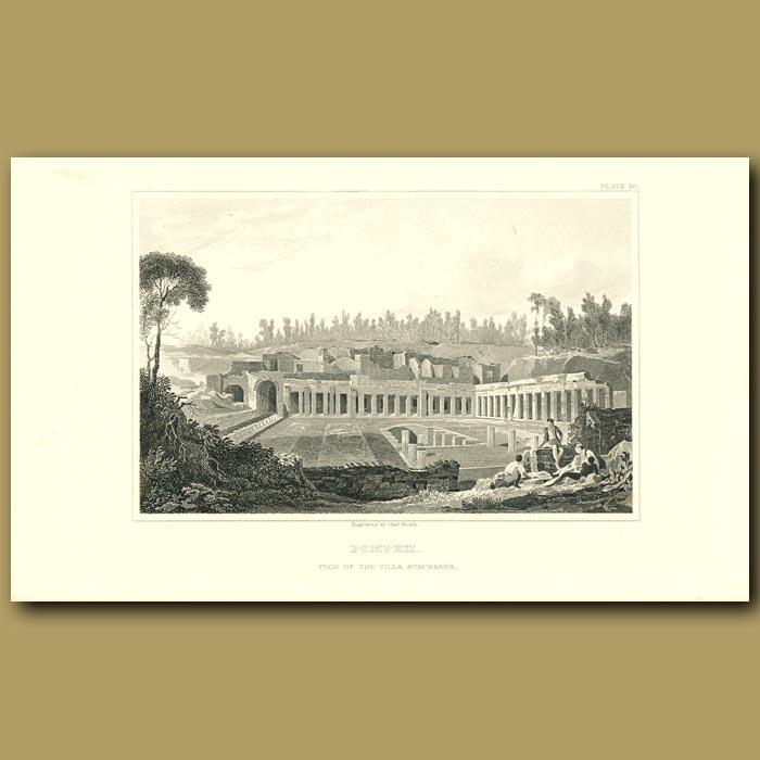Antique print. Pompeii: View of the Villa Suburbana