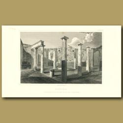 Pompeii: Triangular room and bath in the Villa Suburbana