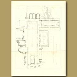 Pompeii: Plan of the forum and basilica at Pompeii