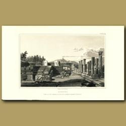 Pompeii: View of the Temple of Bacchus looking towards Vesuvius