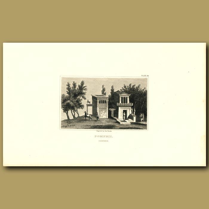 Antique print. Pompeii: Painting