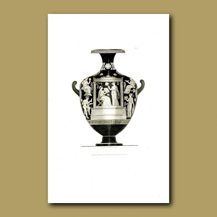Antique print. Sir Henry Englefield