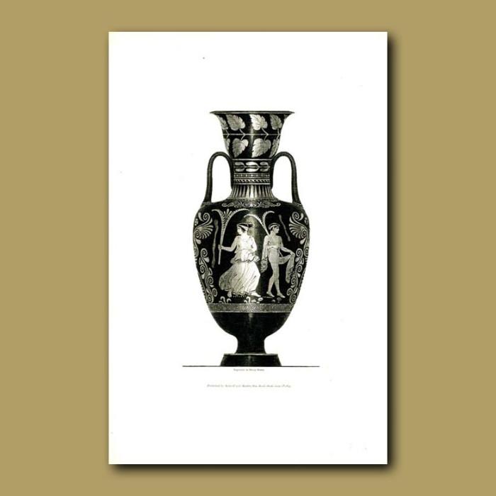Antique print. Etruscan vase (II)